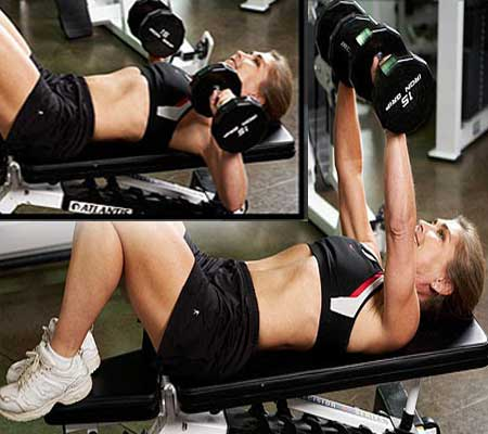 Dumbbell Chest Press Exercise for Breast Enlargement
