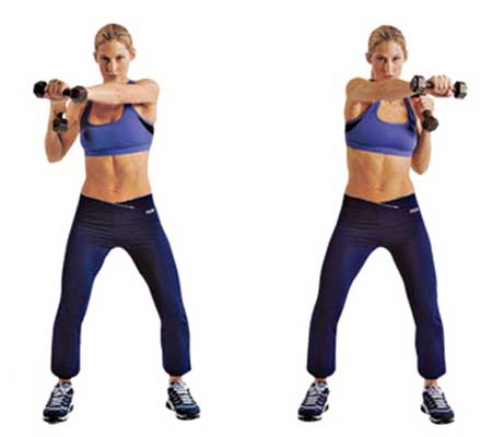 Dumbbell Cross Punch Exercise for Breast Enlargement