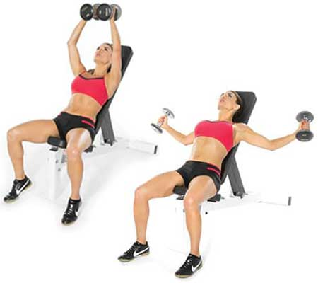 Dumbbell Flys Exercise for Breast Enlargement