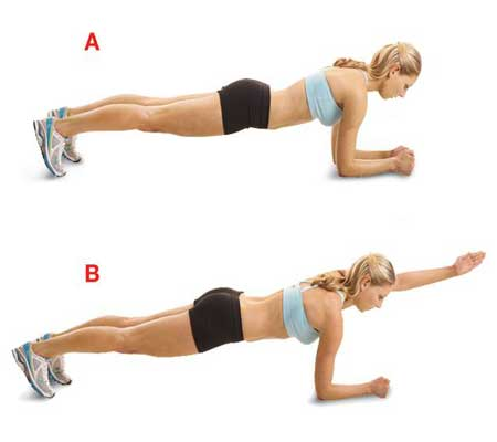 Plank Reaches Exercise for Breast Enlargement