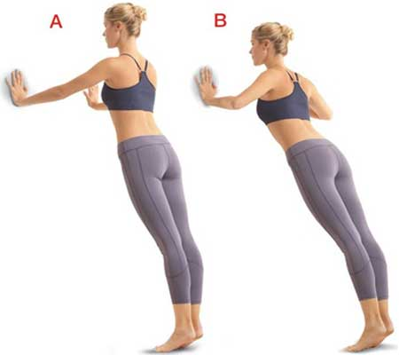 Wall Push Ups for Breast Emlargement