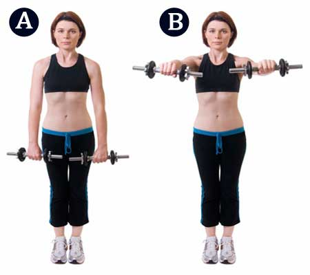 Anterior Front Raises Exercise for Breast Redduction