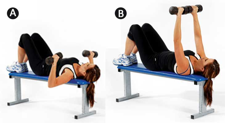 Chest Press Exercise for Breast Reduction