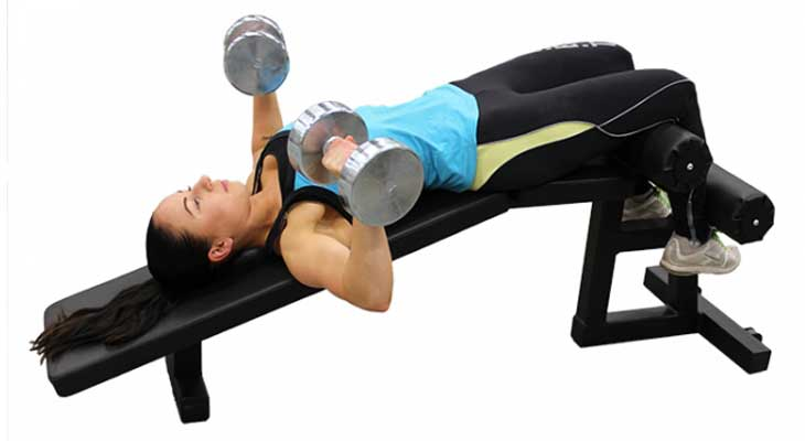 Decline Press Exercise for Breast Reduction