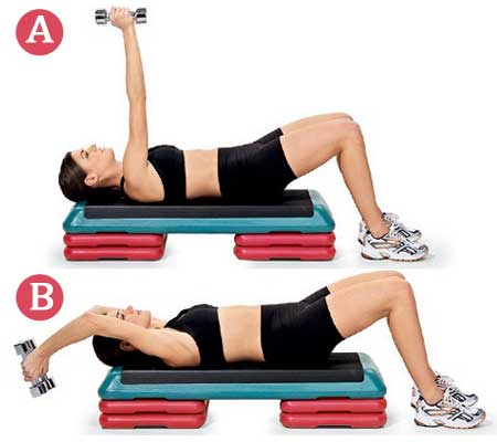 Dunble Back Pull Over Exercise for Breast Reduction