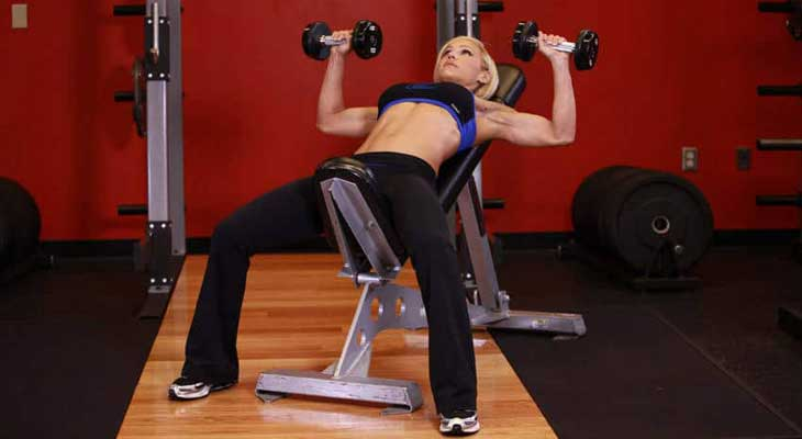 Incline Press Exercise for Breast Reduction