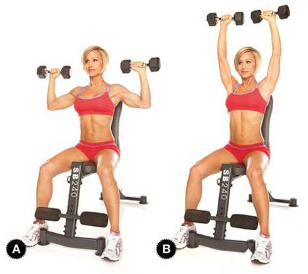 Shoulder Press Exercise for Breast Reduction