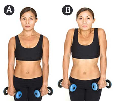 Shoulder Shrugs Exercise for Breast Reduction