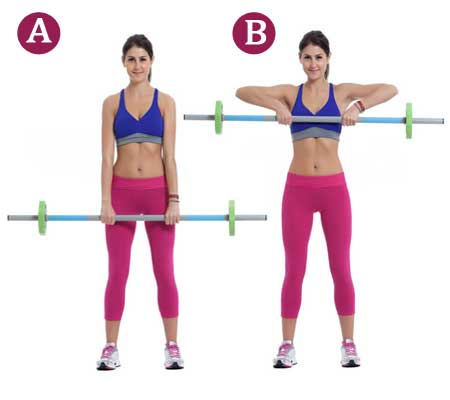 Upright Rows Eexercise for Breast Reduction