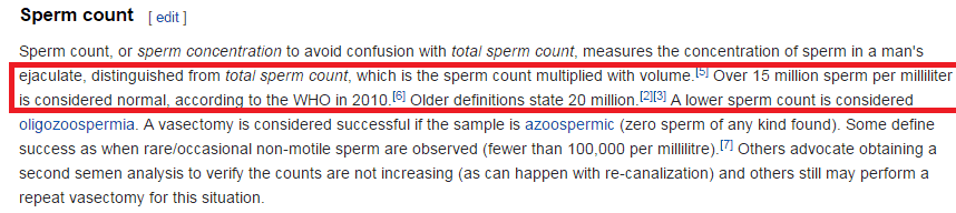 WHO 2010-Report About Sperm Count
